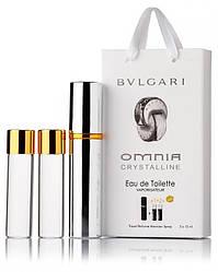 Подарочный набор Bvlgari Omnia Crystalline edt 3X15 ml, женская туалетная вода!