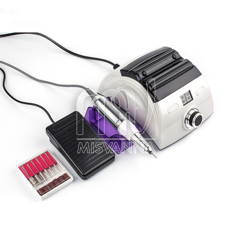 Фрезер ZS-710 на 65 Вт и 35000 об/мин для маникюра и педикюра, белый