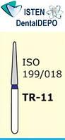 Боры TR-21 - синий конусообразный, закруглённый кончик, MANI (3 шт.), фото 1