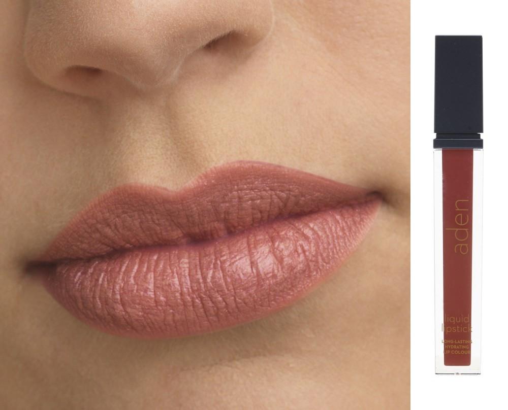 Жидкая матовая помада  Ottawa Garnet №18, 7 мл Aden Cosmetics Liquid Lipstick