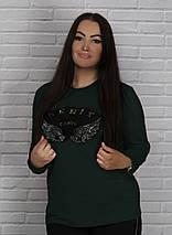 """Трикотажная женская кофта """"FENIX"""" с длинным рукавом (большие размеры), фото 3"""