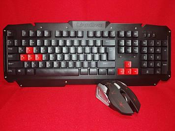 Игровая беспроводная клавиатура с мышкой HK-6700