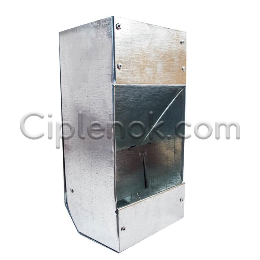 Бункерная кормушка для кроликов 1 отд. метал.  24х9х9