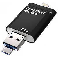 Флешка iPhone iPad - PhotoFast iFlashDrive Evo Plus Lightning / USB3 / Micro 64GB