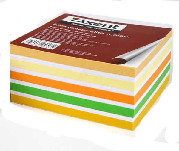 <b>Бумага для заметок Axent</b> Elite Color 90х90х40мм, нескленная ...