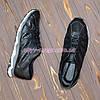 Мужские кожаные дышащие  кроссовки на шнурках, цвет черный, фото 4