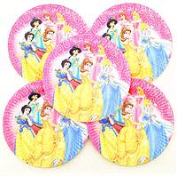 """Бумажные тарелки """"Принцессы диснея"""" 20 см (уп-10 шт)"""