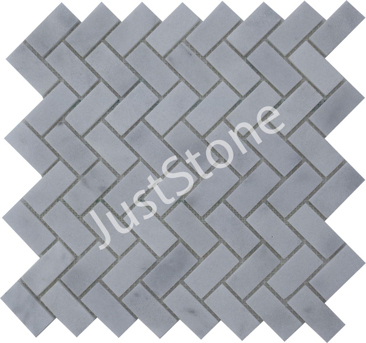 Мозаичная плитка Полир. МКР-5П (47х23) 6 мм White BI