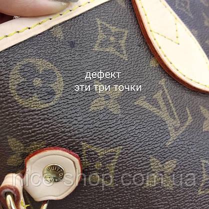 Сумка Louis Vuitton Neverfull Меdium кожа, монограмм классика, фото 2