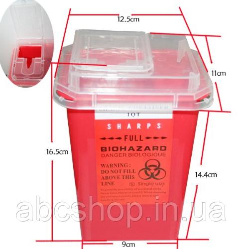 Контейнер для утилизации расходников (иглы, модули) Красн