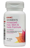 Vitamin для волос, GNC, Hair, Skin and Nails Formula, 60 caps