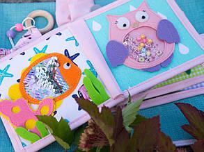Книжечка-игрушка для детей развивающая для девочки 3
