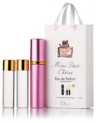 Подарочный набор Christian Dior Miss Dior Cherie edt 3X15 ml, женская туалетная вода!