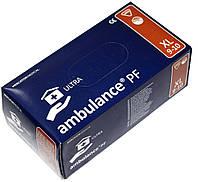 Перчатки синие AMBULANCE PF латексные неопудренные прочные XL RD10091005