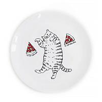 Тарелка Orner Кот с пиццей, 25 см