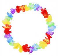 Леи гавайские Разноцветные цветы 37847