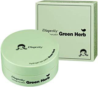 Гидрогелевые патчи c экстрактами зеленых трав Diapretty Hydrogel eye patch green herb, 60 шт