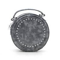 Женский клатч серый круглый 183493, фото 1