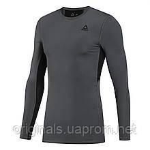 Мужская компрессионная футболка Reebok Wor Compr Lo Sleeve Solid DU2161