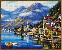 Алмазная вышивка  40×50 см. Альпийская деревня Художник Сунг Ким (ST218-VP), фото 1