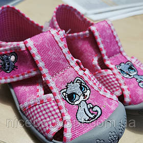 Тапочки текстильные 3F Cat Mouse 21 р.