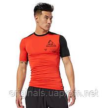 Мужская компрессионная футболка Reebok Ost Ss Graphic Comp Tee DU3956