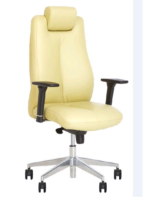 Кресло офисное Sonata R Steel механизм ES крестовина AL70, кожа люкс комбинированная LE-F (Новый Стиль ТМ)