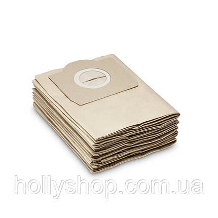 Бумажные мешки для пылесоса 5шт Karcher WD3 wd1 wd4 wd5 мешки мешок керхер karher пылесборник, фото 2