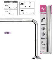 Карниз угловой алюминиевый Prima Nova 07162 для ванной и душевой кабины (Турция)