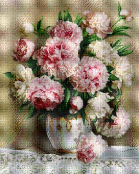 Алмазная вышивка  40×50 см. Роскошные пионы Художник Эдуард Жалдак (ST537)