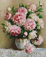 Алмазная вышивка  40×50 см. Роскошные пионы Художник Эдуард Жалдак (ST537), фото 1