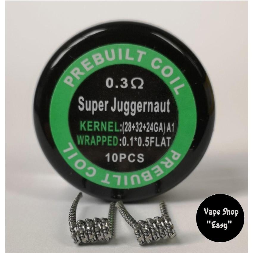 Super Juggernaut  coil упаковка 10 шт. Готовые койлы, спирали для электронных сигарет.