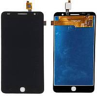 Дисплей (экран) Alcatel5022,5022D One Touch Pop Star с тачскрином в сборе ORIG, черный