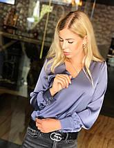 """Шелковая женская блуза """"Norma"""" с длинным рукавом (5 цветов), фото 3"""