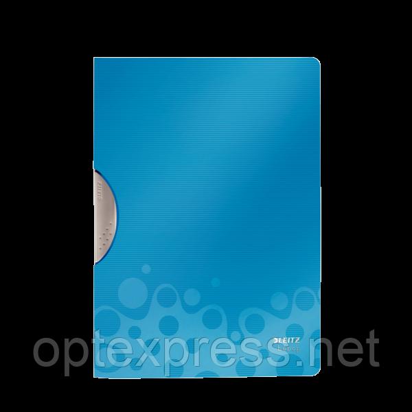 Папка с клипом Leitz Bebop, ESSELTE синяя