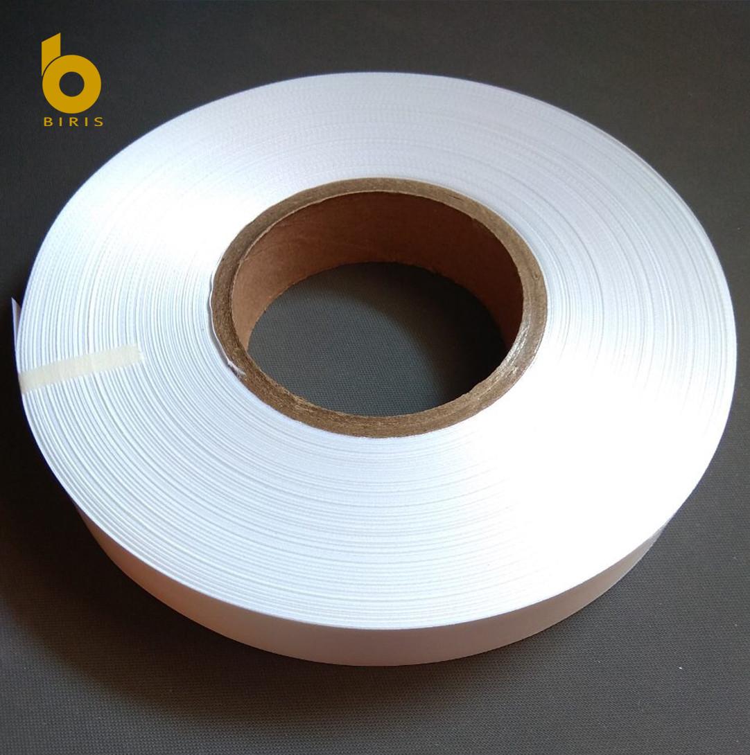 Лента текстильная САТИН белый standart 70мм х 183м