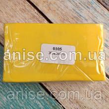 Полимерная глина Пластишка, №0105 желтый G, 250 г / Полімерна глина Пластішка, №0105 жовтий G, 250 г