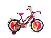 Детский велосипед Azimut Winx с корзинкой для игрушек/Диамерт колеса 16 дюймов