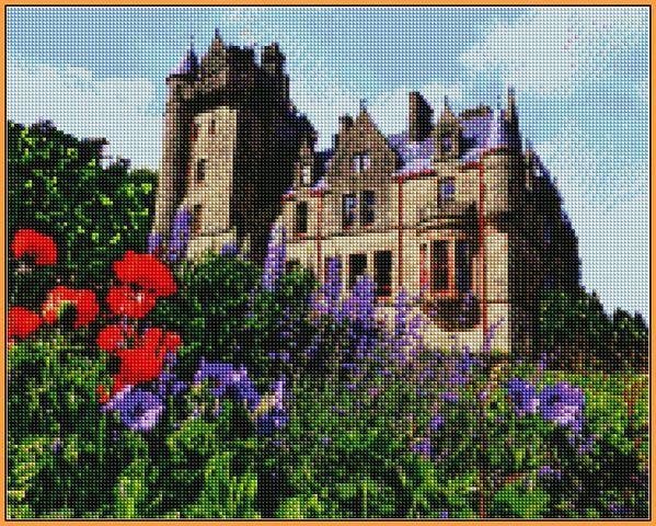 Алмазная вышивка  40×50 см. Замок Белфаст (ST-1125)