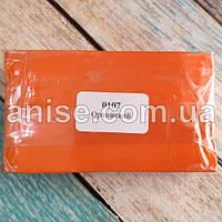 Полимерная глина Пластишка, №0107 оранжевый, 250 г / Полімерна глина Пластішка, №0107 оранжевий, 250 г