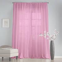 Тюль вуаль шифон розовый