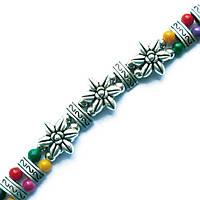 Браслет на Руку Тибетский Три Цветка и Цветные Бусы №2 Талисманы, Обереги, Аммулеты