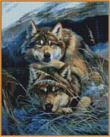 Алмазная вышивка  40×50 см. Вместе теплее Художник Юлия Неприятель (ST-1132), фото 1