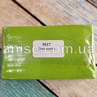 Полимерная глина Пластишка, №0117 оливковый, 250 г / Полімерна глина Пластішка, №0117 оливковий, 250 г