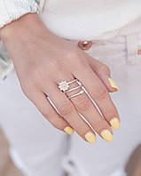 Спиральный цветок  - серебряное кольцо