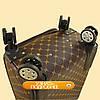 Чемодан дорожный на колесах из искусственной кожи, фото 5