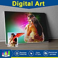 Dream art Дрим Поп арт картина портрет печать на холсте фото по коллаж