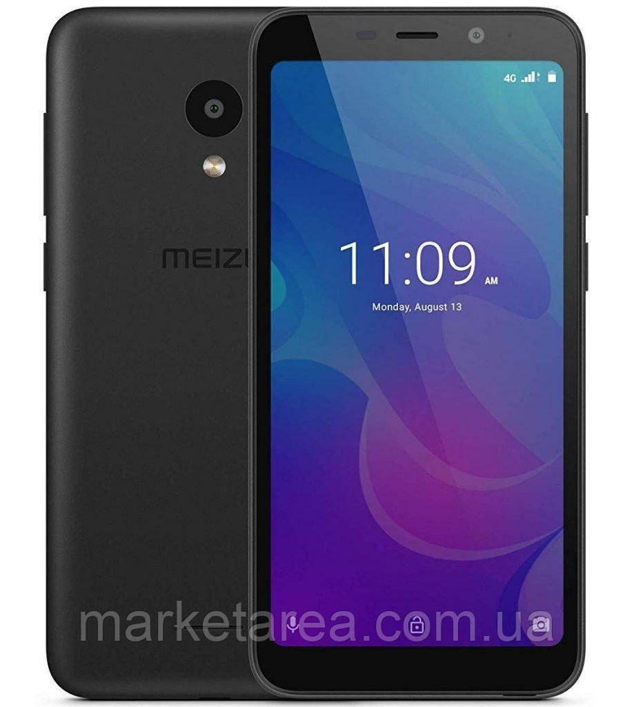 Смартфон мейзу черный тонкий с большим дисплеем на 2 сим карты Meizu C9 M818H Black Global Version 2/16GB