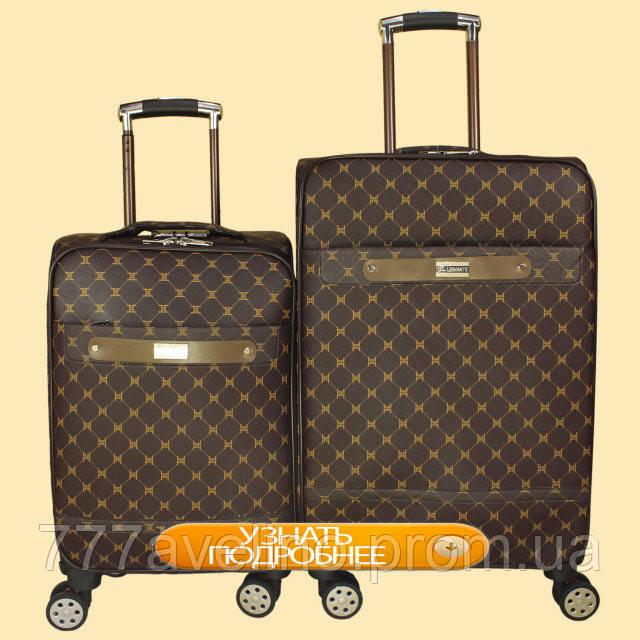 КОМПЛЕКТ чемоданов  на колесах из искусственной кожи