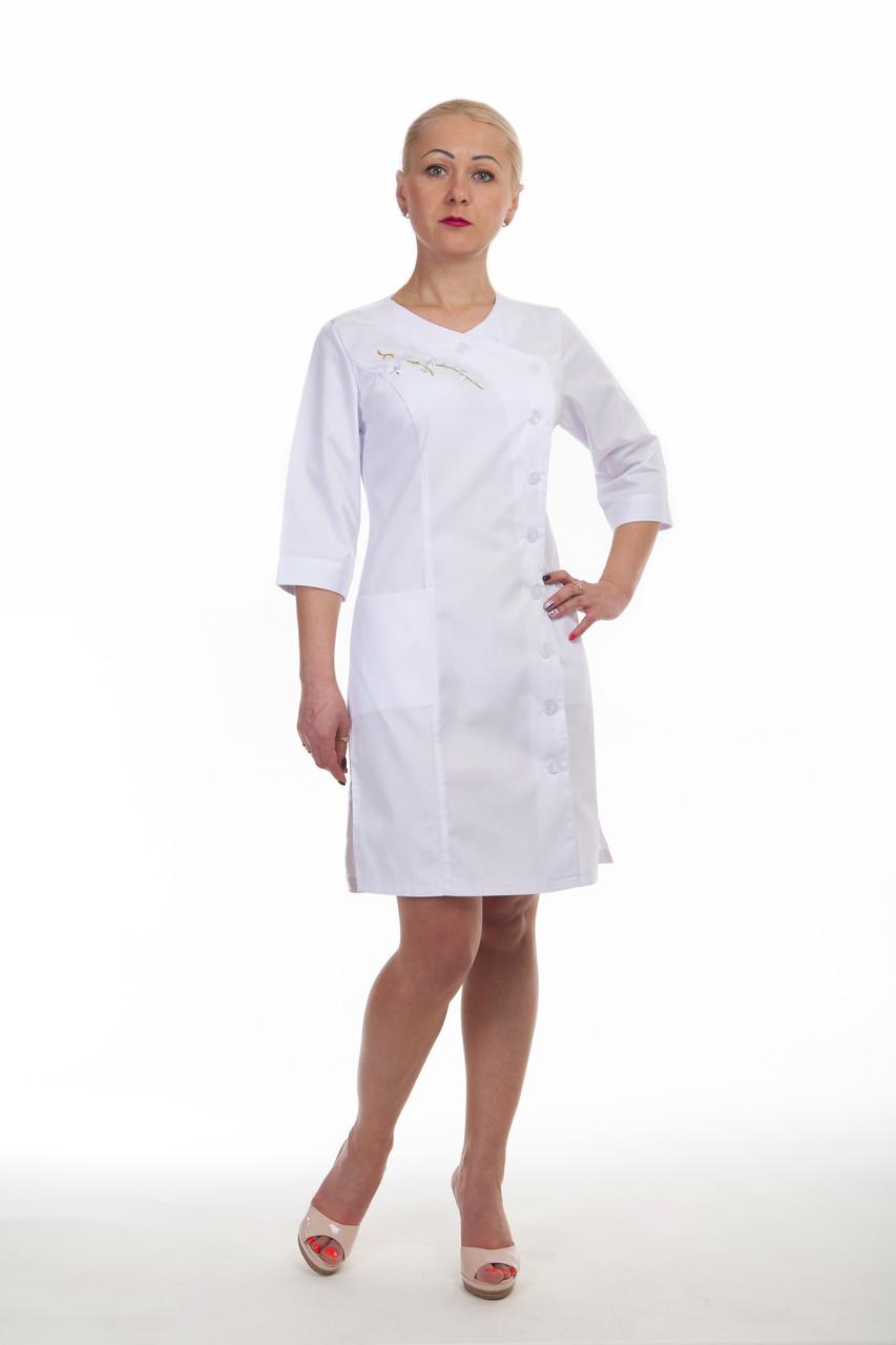 Модный женский медицинский халат